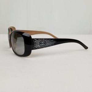 Chanel Black Rectangular Crystals Sunglasses